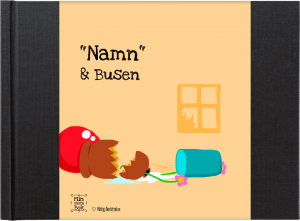 """Namn & Busen"" - en personlig barnbok av Anne Mette Kærgaard Olesen från minbästabok.se"